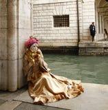 Romantic scene in Venice for carnival Stock Image