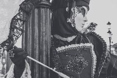Masked woman in Venice carnival Stock Images
