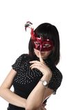 Masked young adult woman Royalty Free Stock Photo