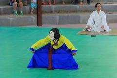 Masken-Tanz Koreas Andong lizenzfreies stockbild
