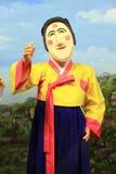 Masken-Tanz Koreas Andong lizenzfreies stockfoto