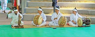 Masken-Tanz Koreas Andong Stockbild