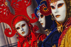 Masken in Venedig, Italien stockfotos