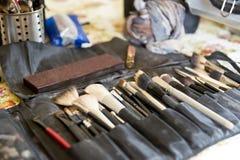 Maskenbildnerwerkzeuge Stockfoto