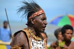 Maskenfestival Papua-Neu-Guinea des traditionellen Tanzes Lizenzfreies Stockbild