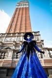Maskenmodell Venedig-Karnevals 2016 Stockfotos