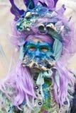 Maskenmodell Venedig-Karnevals 2016 von der venetianischen Burano-Insel Stockfotos