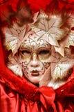 Maskenmodell Venedig-Karnevals 2016 von der venetianischen Burano-Insel Lizenzfreies Stockfoto