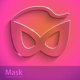 Maskenzeichenglasikonenillustration Stockfoto