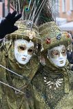 Masker - Carnaval - Venetië Italië Stock Foto