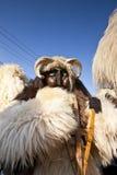Masker di carnevale in pelliccia 'al Busojaras', il carnevale del funerale dell'inverno Immagine Stock Libera da Diritti