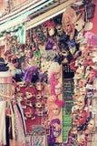 Masker die de Nostalgieeffect in van Venetië (Italië) winkelen Stock Afbeeldingen