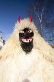 Masker do carnaval na pele 'no Busojaras', o carnaval do funeral do inverno Imagens de Stock Royalty Free
