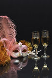 Masker en glazen Royalty-vrije Stock Fotografie