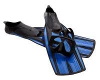 Masker en vinnen met waterdalingen Stock Foto's