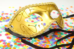 Masker met confettien Royalty-vrije Stock Fotografie