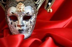 Masker op Rood Stock Foto