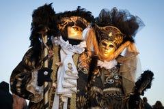 Masker op Venetiaans Carnaval, Venetië, Italië (2012) Stock Afbeeldingen