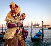 Masker op Venetiaans Carnaval, Venetië, Italië (2012) Stock Afbeelding