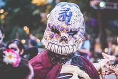 Masker van dood Stock Foto's