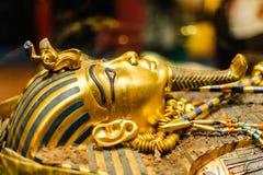 Masker van farao Tutankhamun stock fotografie