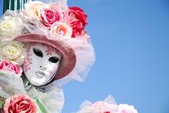 Masker in Venetië stock afbeelding