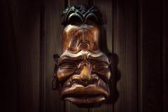 maskera trä Royaltyfri Foto