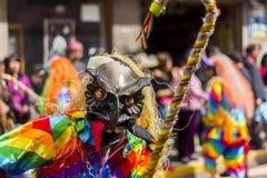 Maskerad dansareVirgen del Carmen Pisac Cuzco Peru Royaltyfri Fotografi