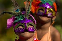 Maskerad flicka Royaltyfri Bild