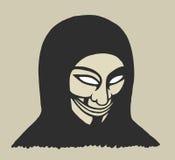 Maskerad man stock illustrationer
