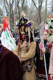 Maskerad Mummers102 arkivfoto
