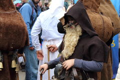 Maskerad Mummers104 royaltyfri fotografi