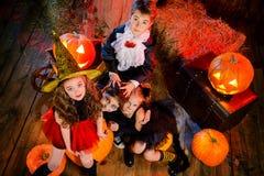 Maskerad på halloween Arkivbild
