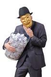 maskerad white för spionage man Arkivfoton