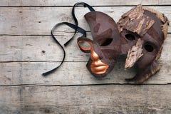 Maskerade en vermomming voor theater en bal-masqué royalty-vrije stock foto's