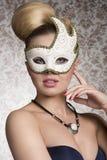 Maskerade sensuele vrouw royalty-vrije stock foto's