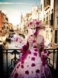 Maskerade in Venetië royalty-vrije stock afbeelding