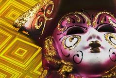Maskeradekarnevalsschablone Lizenzfreie Stockbilder