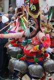 Maskeradfestival i den Shiroka lakaen, Bulgarien arkivbilder