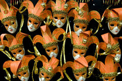 maskerar orangen Royaltyfri Foto