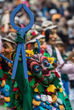 Maskerat karnevaldiagram Royaltyfri Bild