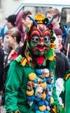Maskerat karnevaldiagram Fotografering för Bildbyråer