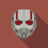 Maskering av den toppna hjälten i en plan design Röd färg också vektor för coreldrawillustration royaltyfri illustrationer