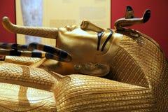 Maskering av Tutankhamun royaltyfri foto
