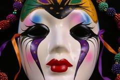 maskering för closeupgrasmardi Royaltyfri Bild