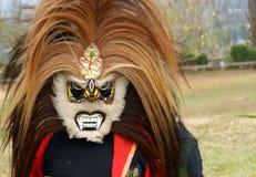 Maskering för den Jathilan dansen royaltyfria bilder
