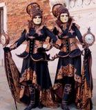 Maskering för folkVenedig karneval royaltyfri fotografi