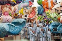 Maskering för karneval 2014 Arkivfoto