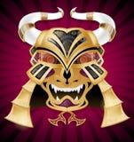 Maskering för samurajkrigareframsida Royaltyfria Foton