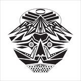 Maskering med en grundläggande form, och in svartvitt vektor illustrationer